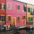 The Houses Of Burano Island-1 by Alex Kantor
