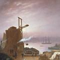 The Hudson River From Hoboken by Robert Walter Weir