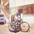 The Indian Tendor-coconut Vendor by Usha Shantharam