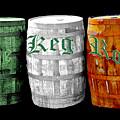 The Keg Room Irish Flag Colors Old English Hunter Green by LeeAnn McLaneGoetz McLaneGoetzStudioLLCcom