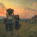 The Last Gleanings by Jules Breton