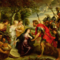 The Meeting Of David And Abigail by Peter Paul Rubens