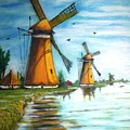 The Mills Of Holland by Gloria M Apfel