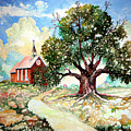The Old Oak Church by Donn Kay