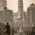 The Parkway In Sepia by Bill Cannon