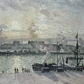 The Port Of Rouen by Camille Pissarro