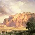 The Pueblo Of Acoma In New Mexico by Thomas Moran