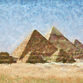 The Pyramids Of Giza by Peter Kupcik