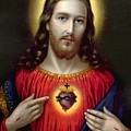 The Sacred Heart Of Jesus by English School