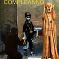 The Scream World Tour  Street Art Happy Birthday Italian by Eric Kempson