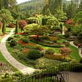 The Sunken Garden At Butchart Gardnes by Darlyne A. Murawski