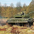 The Tank T-72 In Movement by Vadzim Kandratsenkau