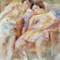 The Two Sleepers by Jules Pascin