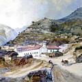 The Village Of Angangueo by Thomas Moran