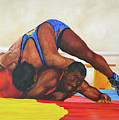 The Wrestlers by David Derr