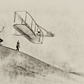 The Wright Brothers At Kittyhawk by Bill Cannon
