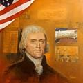 Thomas Jefferson by Bernie Habicht