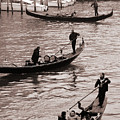 Three Gondolas by L S Keely