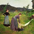 Three Ladies Washing by Harriet Backer