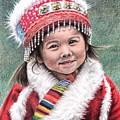 Tibetan Girl by Nicole Zeug