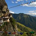 Tiger's Nest Prayer Flags Bhutan by Ken Hayden