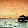 Tiki Sunset by Florene Welebny