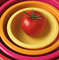 Tomato In Mixing Bowls by Garry Gay