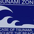 Topsail Island's Tsunami Zone Sign by Betsy Knapp