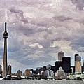 Toronto Skyline by Colette Panaioti