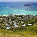Town Of Kailua With Mokulua Islands by Inti St. Clair