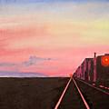 Train At Sundown by Stan Hamilton