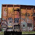 Train Car Graffiti 1 by Anne Cameron Cutri