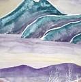 Tranquility Landscape Mountain Surreal Modern Fine Art Print by Derek Mccrea