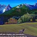 Trapper Peak  Montana Autumn Singing by Anastasia Savage Ealy