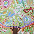 Tree Of Life With Dragonfly by Karen Fields
