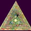 Triangle Triptych 3 by Tom Hefko