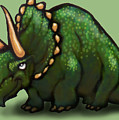 Triceratops by Kevin Middleton