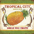 Tropical City Pineapple by Debbie DeWitt