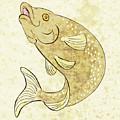 Trout Fish Jumping by Aloysius Patrimonio