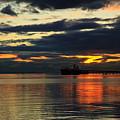 Tsawassen Sunset by Monte Arnold