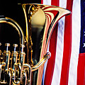 Tuba And American Flag by Garry Gay