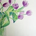 Tulips In Purple by Julie Lueders