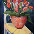 Tulips On A Chair by Diana Davenport