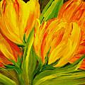 Tulips Parrot Yellow Orange by Carol Nelissen