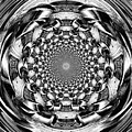 Tunnel Vision-black And White by Charleen Treasures