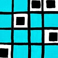 Turquoise Squares by Marsha Heiken