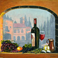 Tuscan Arch Wine Grape Feast by Italian Art