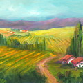 Tuscan Fields by Sally Seago
