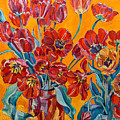 Two Bunches Of Red Tulips by Vitali Komarov