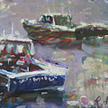 Two Lobster Boats by Robert Joyner